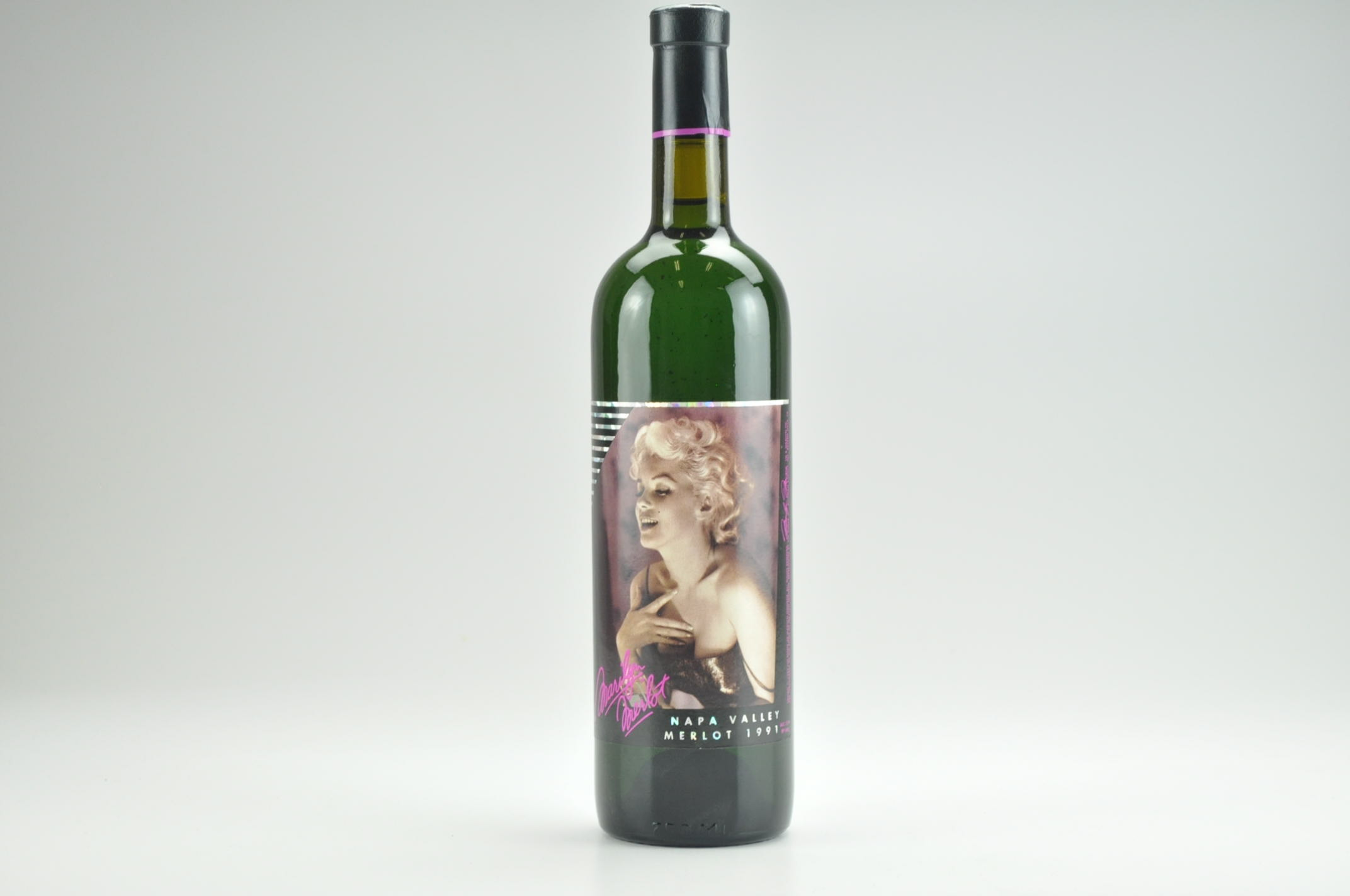 1991 Marilyn Merlot Wine-- Filled With 100% Napa Valley Water