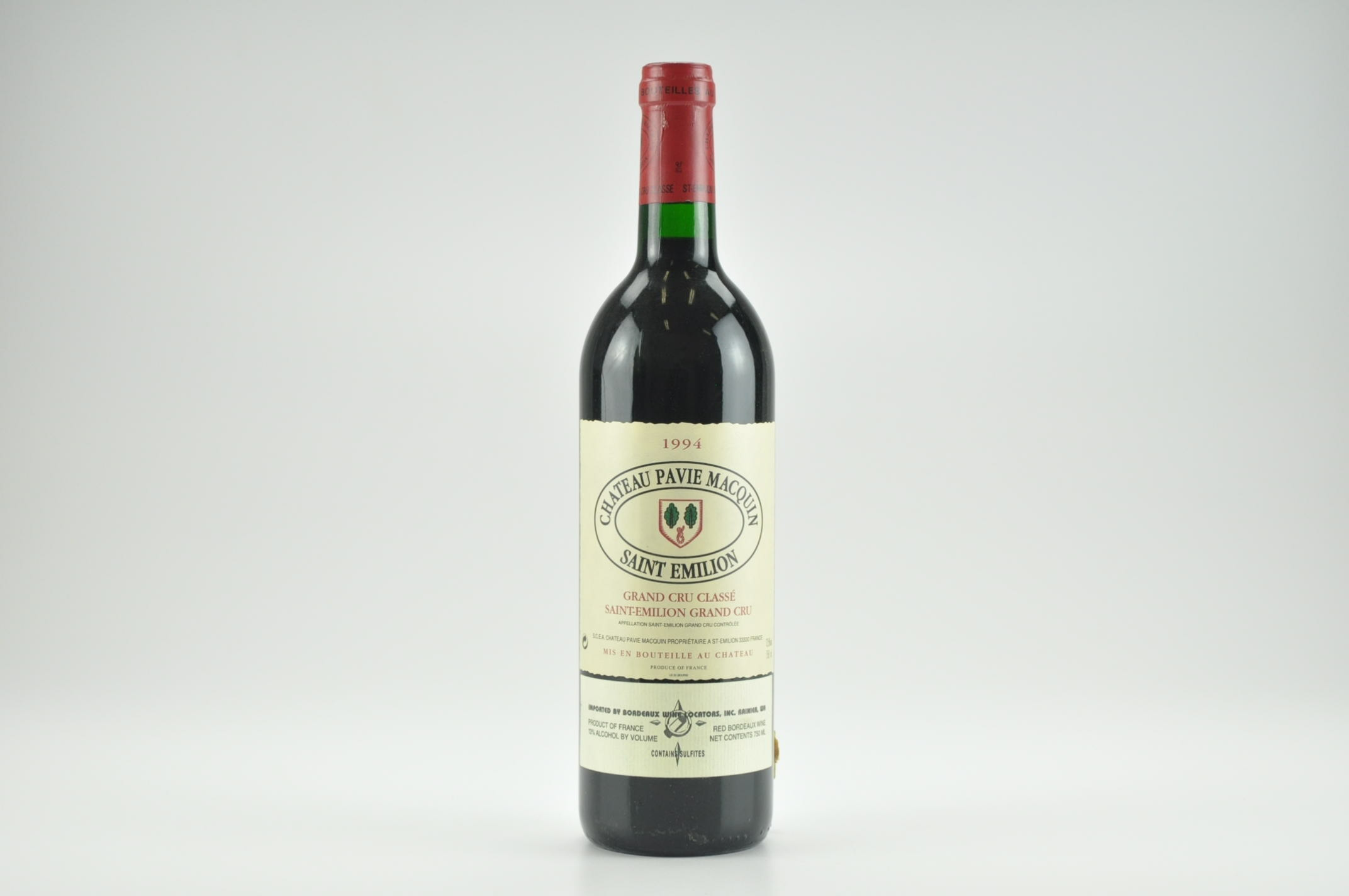 1994 Chateau Pavie Macquin Bordeaux, Saint-Emilion WS--90