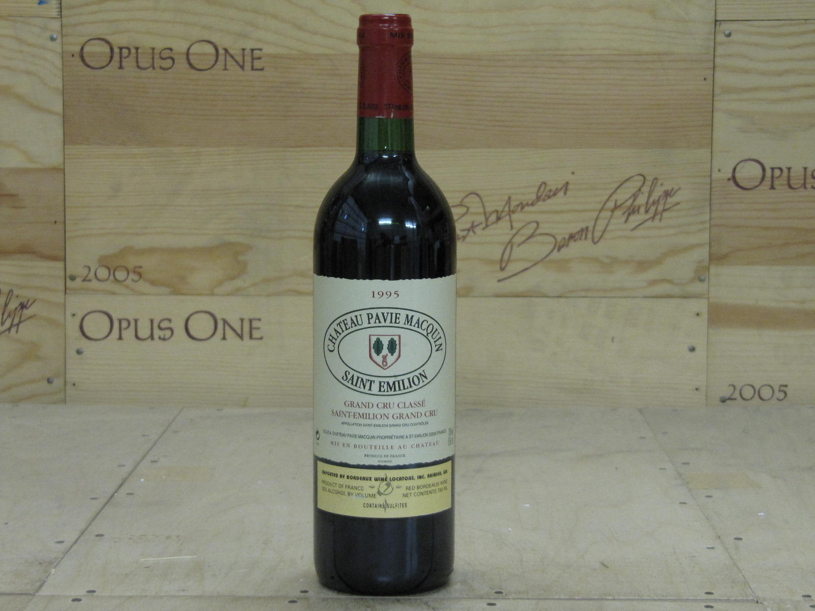 1995 Chateau Pavie Macquin Bordeaux, Saint-Emilion WS--92