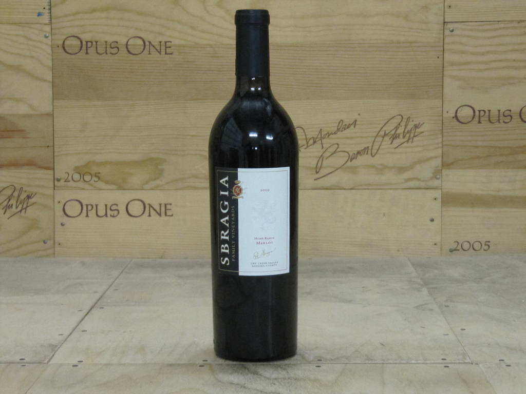2010 Sbragia Merlot Home Ranch, Dry Creek Valley WE--92