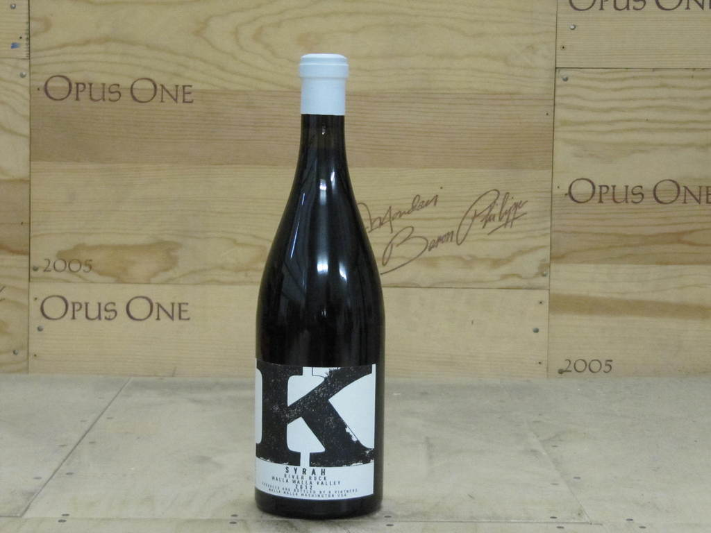 2012 Charles Smith K Vintners River Rock Syrah, Walla Walla Valley RP--94