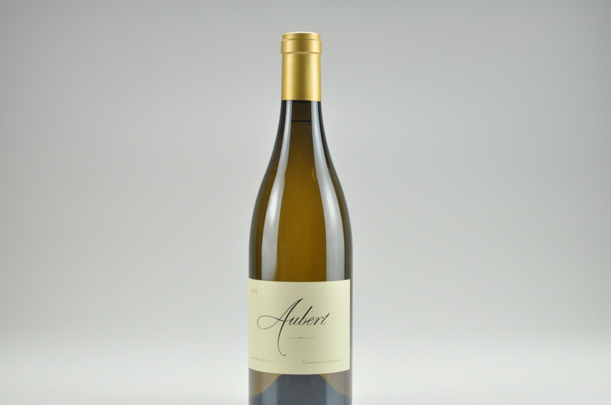 2012 Aubert Chardonnay Larry Hyde and Sons Vineyard, Carneros RP--96