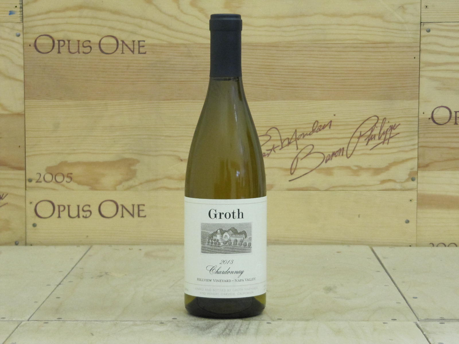 2013 Groth Chardonnay Hillview Vineyard, Napa Valley WE--91