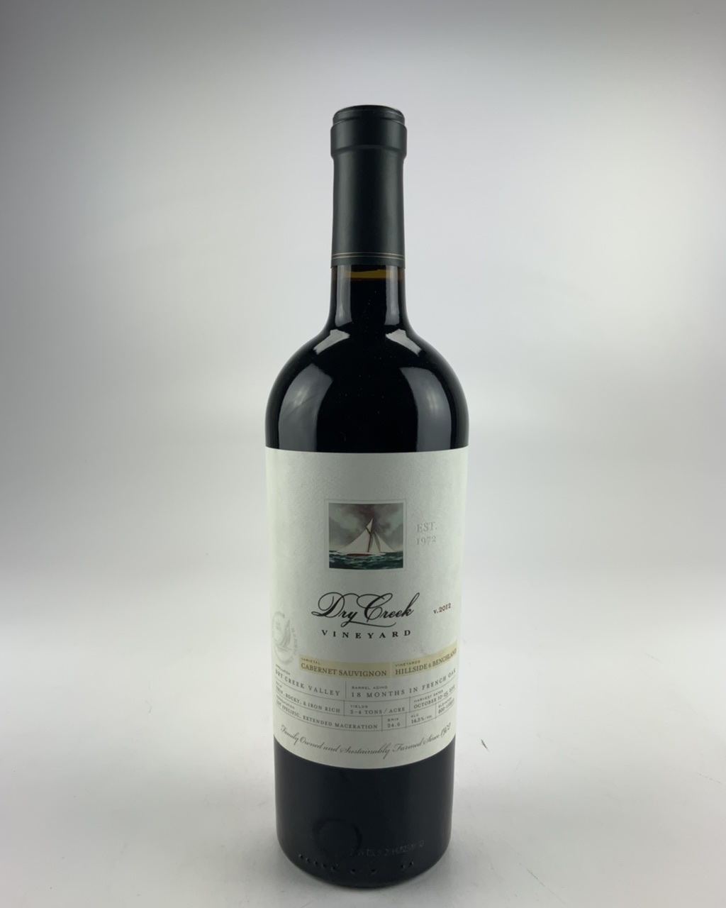 2012 Dry Creek Cabernet Sauvignon (Hillside Vineyards Benchland)